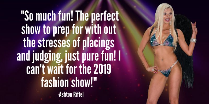 Angel Fashion Show 2019, WBFF Competition Suits, NPC Competition