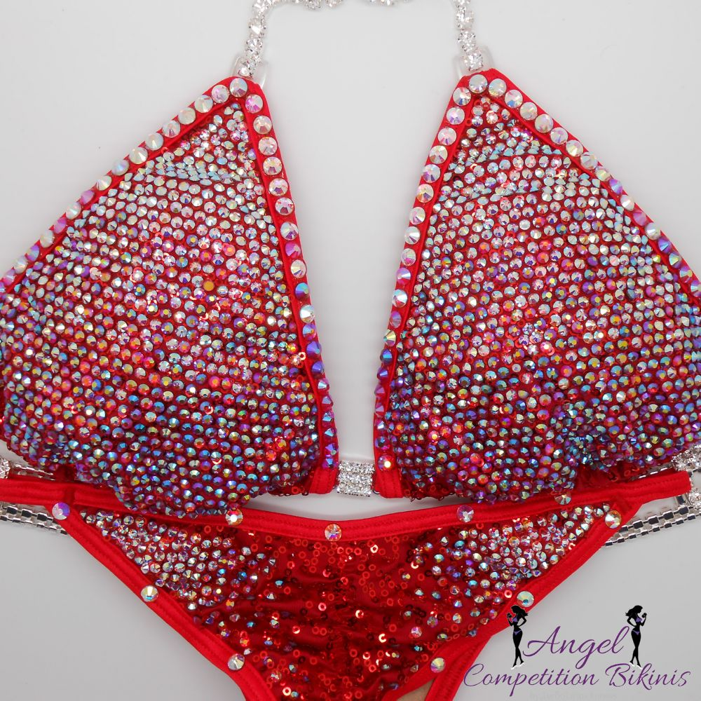 Angel Pro gradient crystallized Angel Competition Bikini