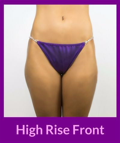 Higher front rise for c-section scar for npc bikini competitors