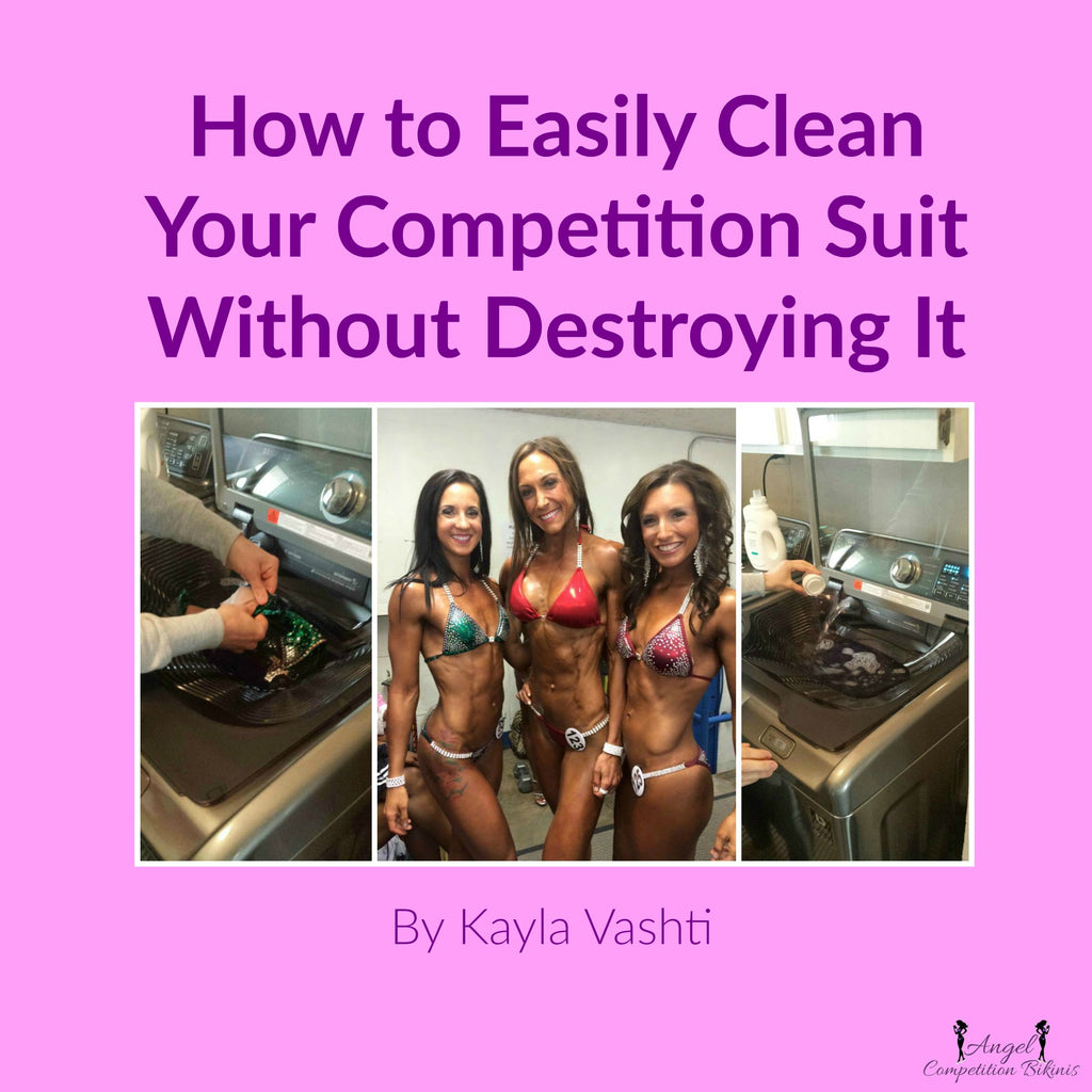 How to clean your competition suit, how to get the tan out of your competition bikini