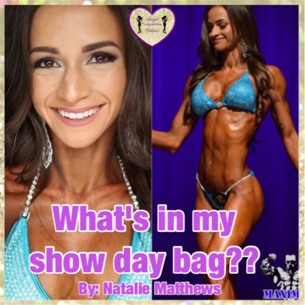Natalie Matthews What's In My Bag? Angel Competition Bikinis