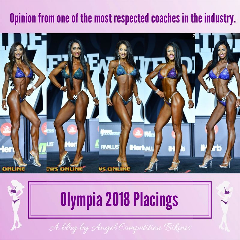 Olympia 2018 Placings Bikini Angel Competition Bikinis Paul Revelia