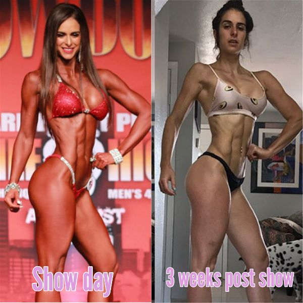 Stephanie Sequeira Reverse Dieting Angel Competition Bikinis