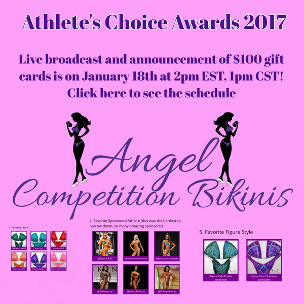 Athlete's Choice Awards for Competition Bikinis and Competition Figure Suits