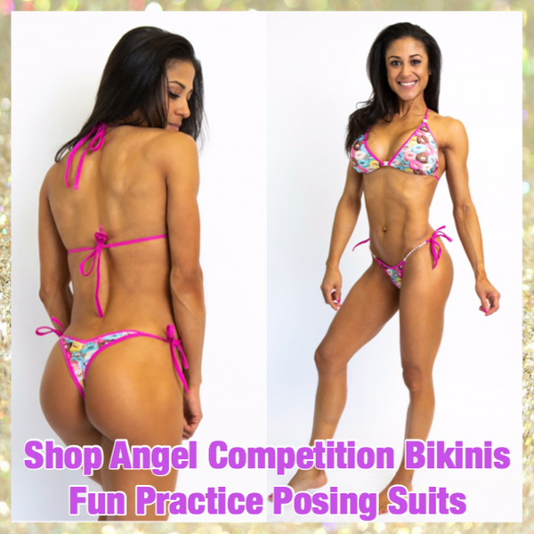 Jenn Caban Angel Competition Bikinis Practice Posing Suits