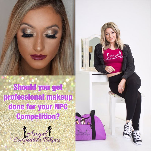 Makeup Professional Vs. Amateur Angel Competition Bikinis