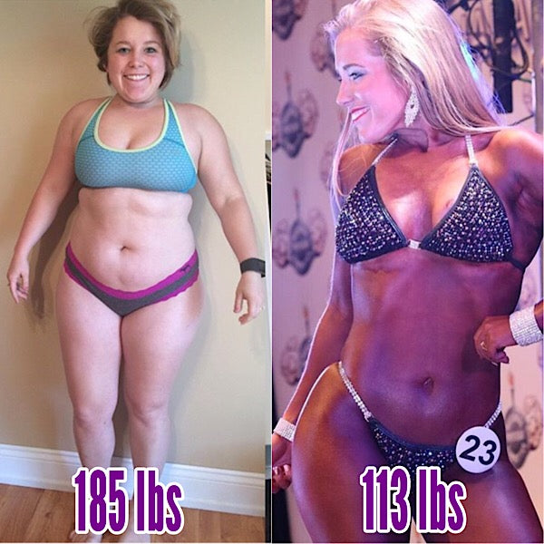Angel Competition Bikinis Sponsored Athlete Alyssa Flores amazing transformation weight loss obese to stage ready
