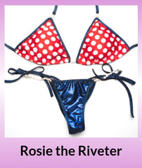 Angel Competition Bikinis Rosie the Riveter Posing Practice Suit