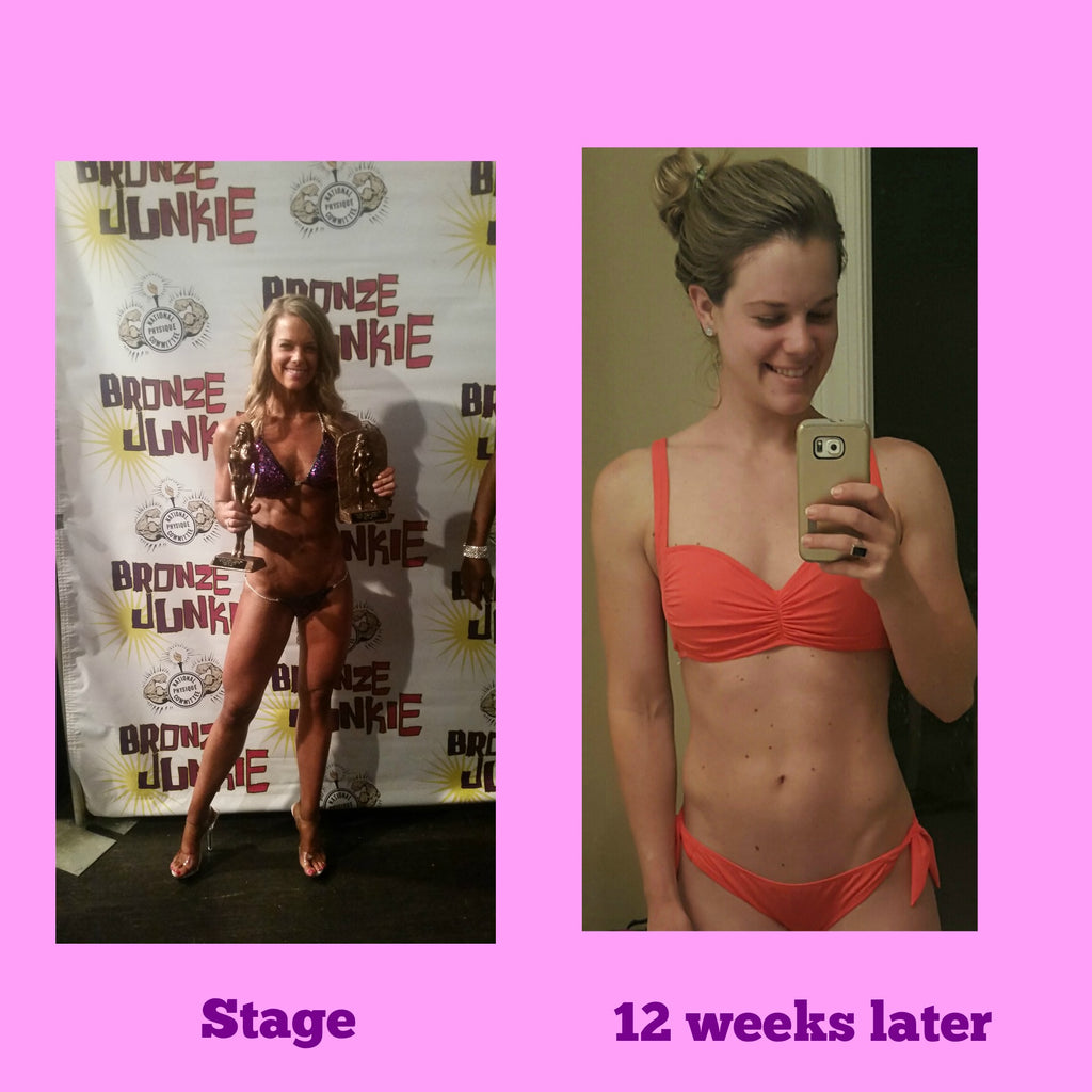 Before and after bikini competition