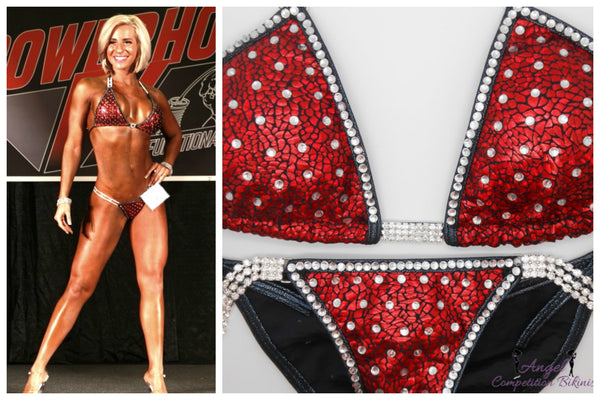 Elle bfitbody, elle chapleau angel competition bikinis snake red angel bliss