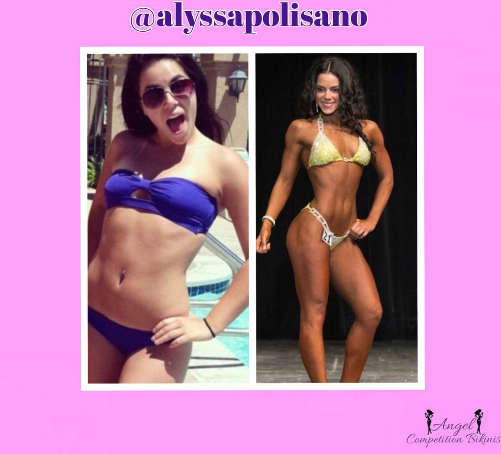 before and after bikini competition, bikini competitor diet