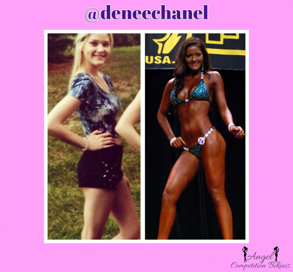 NPC Bikini before and after, bikini competition transformations