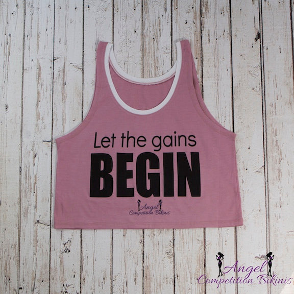 "Mauve ""Let the Gains BEGIN"" tank"