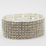 7 Row Crystal Competition Bracelet