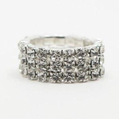 3 Row Crystal Competition Ring
