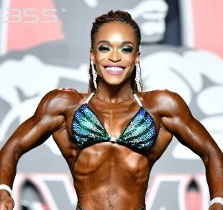 IFBB NPC Figure Suits worn by Olympians, ACBikinis, Angel Competition Bikinis is the best competition suit company