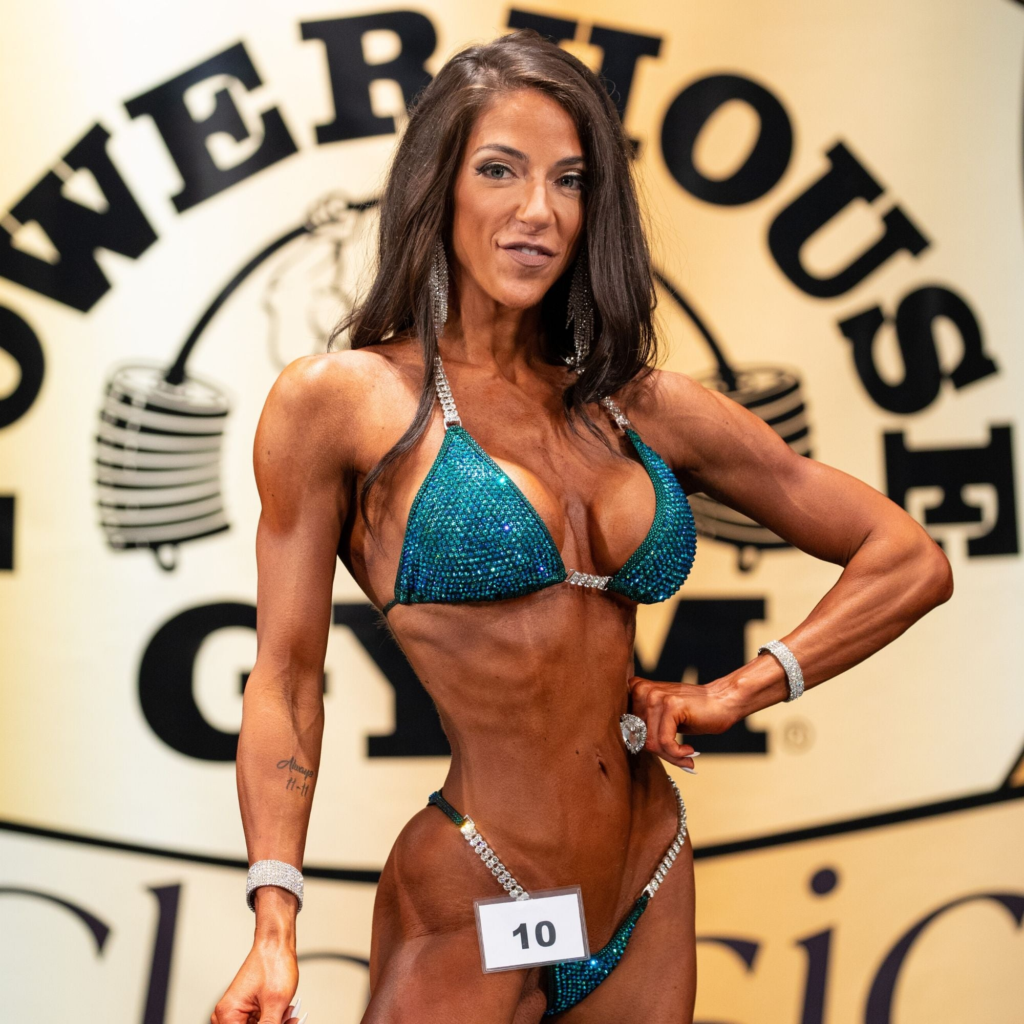 Ashley Kaltwasser @ashleykfit Angel Competition Bikinis Sponsored Athlete How to become a sponsored athlete for npc bikini competitions