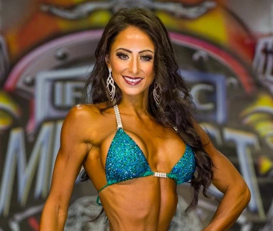 Casey Samsel IFBB NPC Bikini Suits worn by Olympians, ACBikinis, Angel Competition Bikinis is the best competition suit company