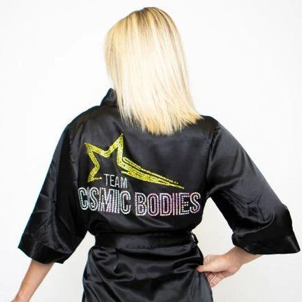 Competition Day Robes from Angel Competition Bikinis, the best backstage robe for bikini competitors, npc show day robe, figure competitor robe