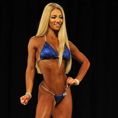 Sethia Dagle Elle Chapleau IFBB Olympian physique competition figure show angel competition bikinis suits crystals crystallized pro brazilian