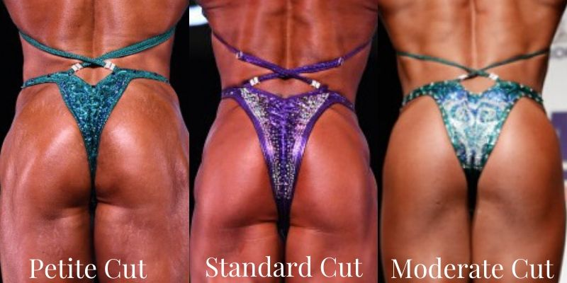 Brazilian Cut Competition Bikini for NPC Pro Cut Competition Bikini, Micro Cheeky competition suit, suit bottoms for ifbb npc bikini competition