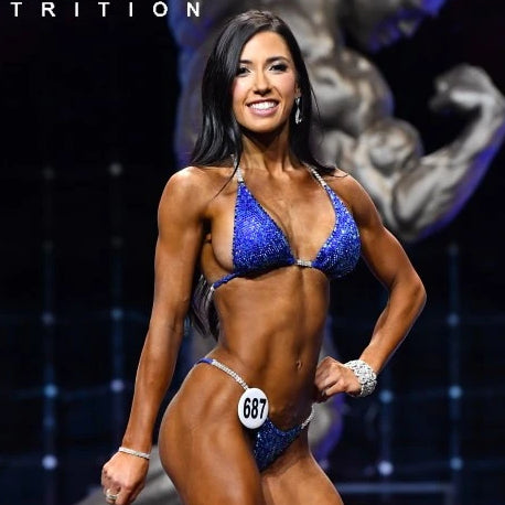 Lauren Dannenmiller physique competition figure show angel competition bikinis suits crystals crystallized pro brazilian