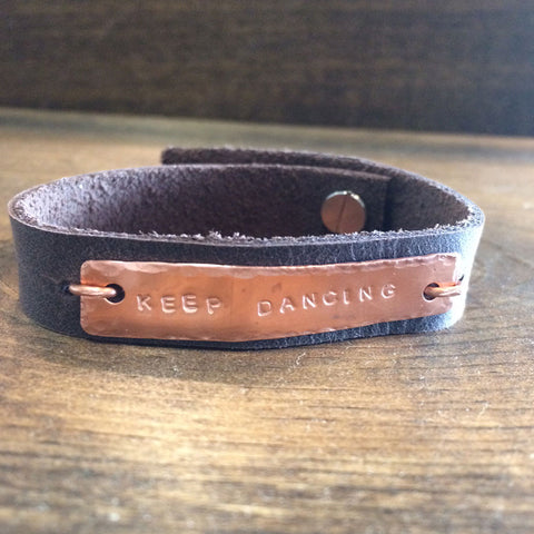 Keep Dancing Leather Bracelet