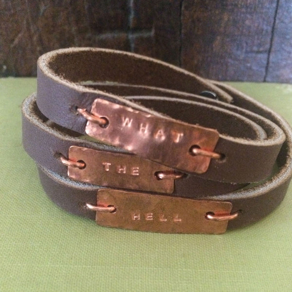 What The Hell Leather Wrap Bracelet