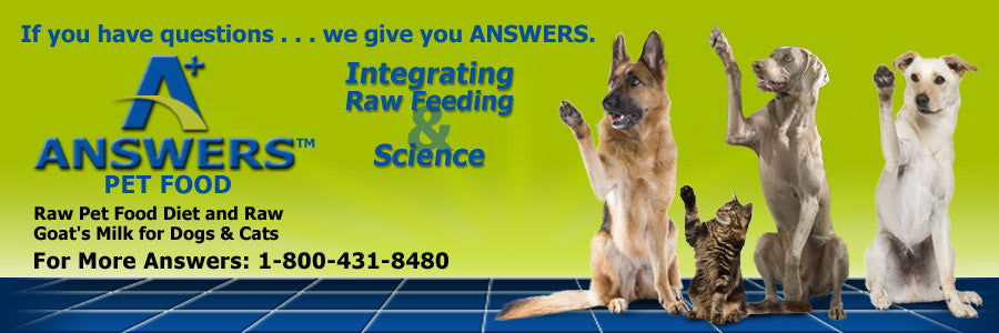Solve 90% of Pet Health Problems with Answers Raw Nutrition