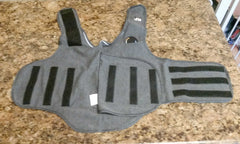 ThunderShirt spread out on a counter top