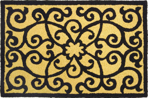 Jellybean Rugs - Frontgate Black & Tan