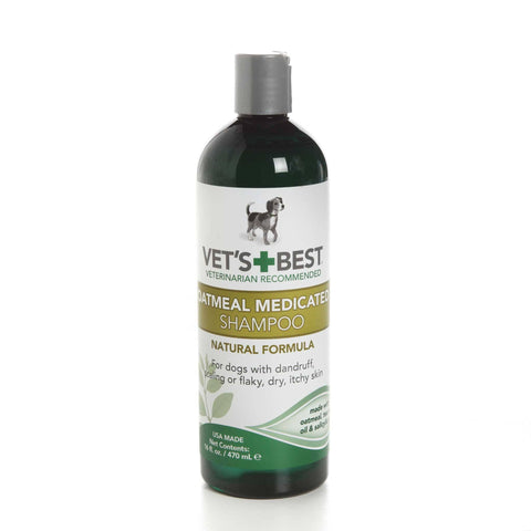 Hollywood Feed - Vet's Best Shampoo - Oatmeal Medicated - 16oz - Shampoo