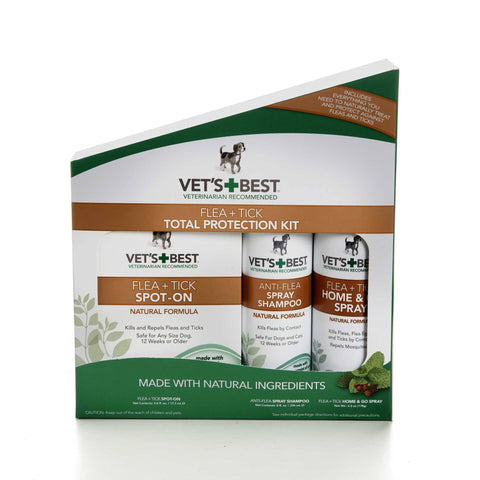 Hollywood Feed - Vet's Best Flea & Tick Total Protection Kit - 3pc - Flea & Tick