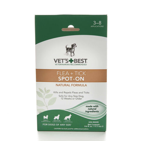 Hollywood Feed - Vet's Best Flea & Tick Spot-On - .6oz - Flea & Tick