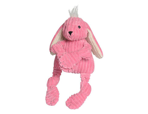 Huggle Hounds - Plush Corduroy Durable Knotties Bunny Dog Toy