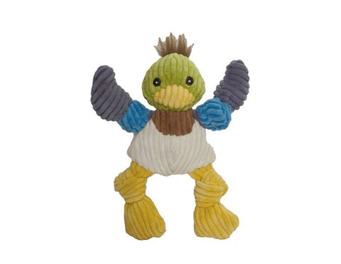 Huggle Hounds - Plush Corduroy Durable Knotties Duck Dog Toy
