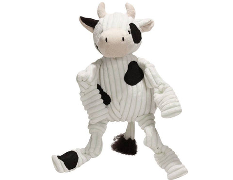 Huggle Hounds - Plush Corduroy Durable Knotties Cow Dog Toy