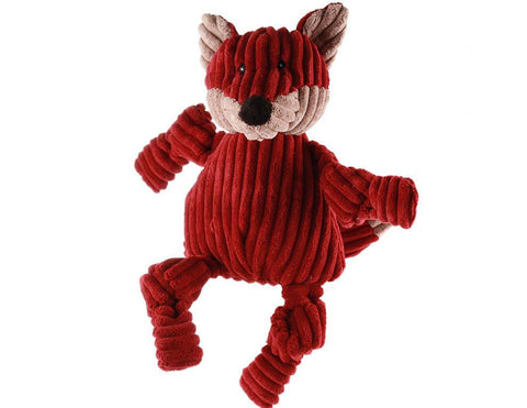 Huggle Hounds - Plush Durable Knotties Fox Dog Toy
