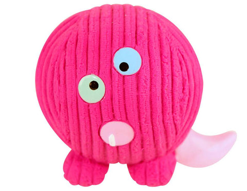 Huggle Hounds - Extremely Durable and Squeaky Ruff-Tex Monstah, Purple People Eater