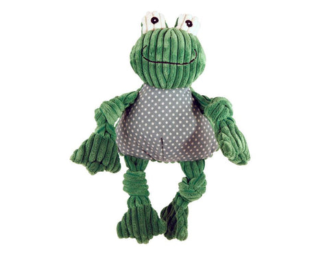 Huggle Hounds - Plush Corduroy Durable Knotties Frog Knottie