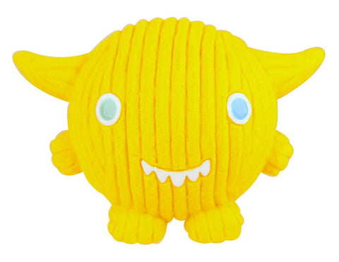 Huggle Hounds - Extremely Durable and Squeaky Ruff-Tex Monstah, Lemondrop Kid