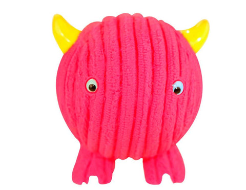 Huggle Hounds - Extremely Durable and Squeaky Ruff-Tex Monstah, Fuchsia Fighter
