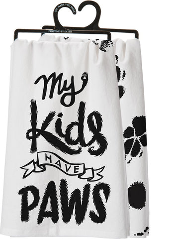 Primitives By Kathy - Dish Towel - My Kids Have Paws