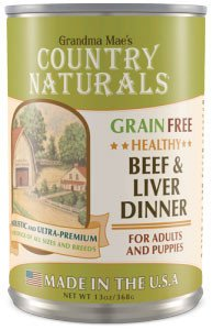 Country Naturals Dog Food - Grain Free Healthy Beef & Liver - 12/cs