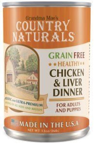 Country Naturals Dog Food - Grain Free Healthy Chicken & Liver - 12/cs