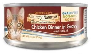 Country Naturals Cat Food - Grain Free Chicken Dinner in Gravy - 24/cs