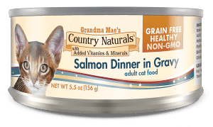Country Naturals Cat Food - Grain Free Salmon Dinner in Gravy - 24/cs