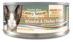 Country Naturals Cat Food - Grain Free Whitefish & Chicken Dinner in Gravy - 24/cs