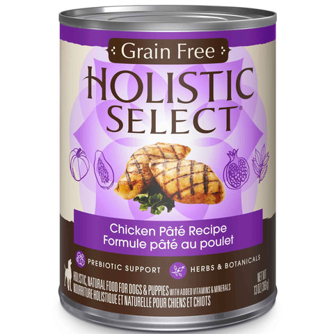 Hollywood Feed - Holistic Select Dog Food - Grain Free Chicken Pate - Canned Dog Food