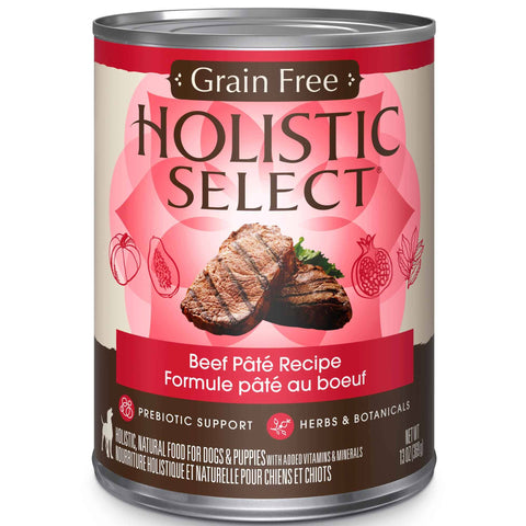 Hollywood Feed - Holistic Select Dog Food - Grain Free Beef Pate - Canned Dog Food